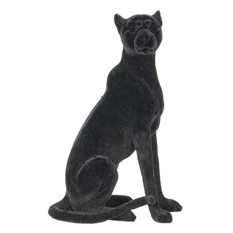 Decoratie luipaard 13*8*21 cm Zwart | 6PR2856 | Clayre & Eef