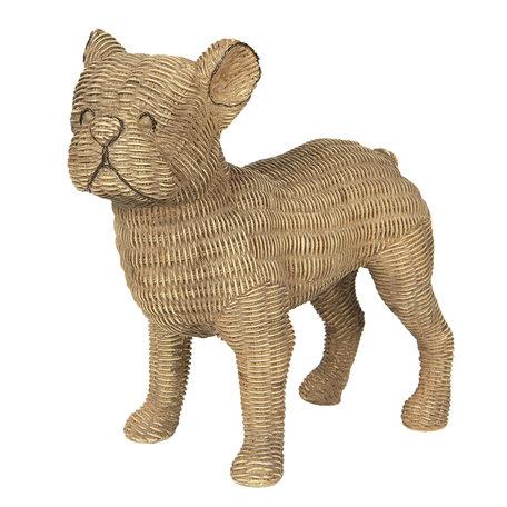 Decoratie hond 31*16*30 cm Bruin | 6PR2925 | Clayre & Eef