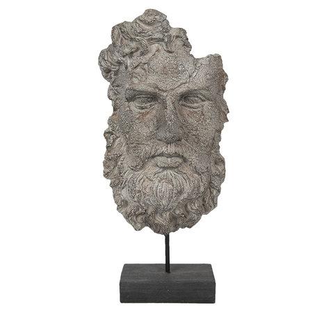Decoratie hoofd man 25*13*51 cm Grijs | 6PR2932 | Clayre & Eef