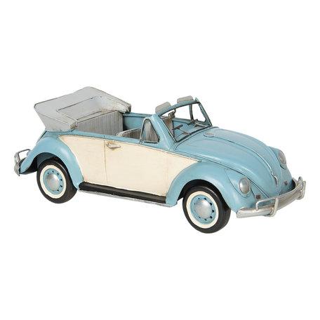 VW kever model auto licentie 34*13*12 cm Blauw   6Y3798   Clayre & Eef