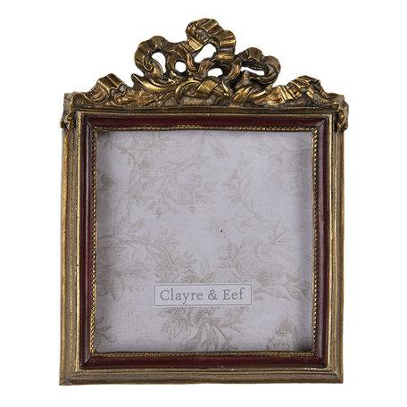 Fotolijst 9*1*11 cm / 7*7 cm Goudkleurig | 2F0685 | Clayre & Eef