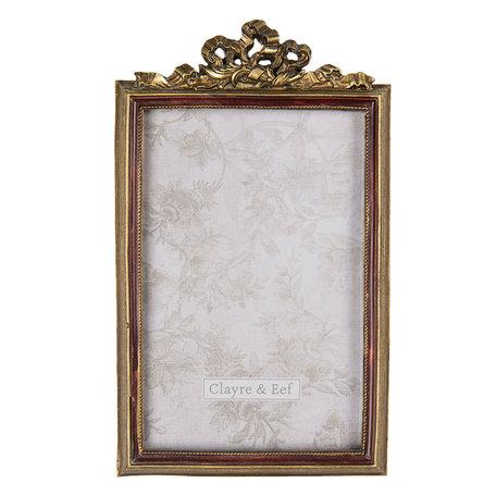 Fotolijst 12*1*19 cm / 10*15 cm Goudkleurig | 2F0686 | Clayre & Eef