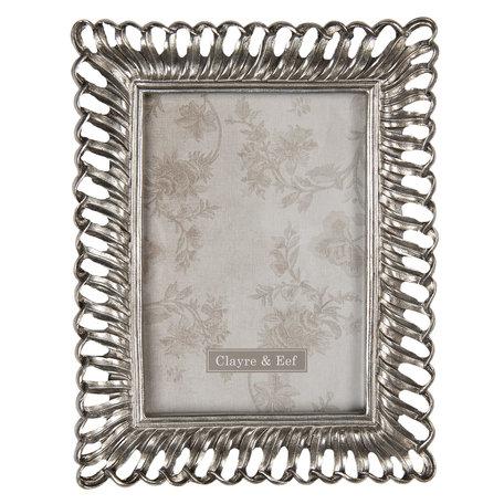 Fotolijst 19*2*24 cm / 13*18 cm Zilverkleurig | 2F0706 | Clayre & Eef