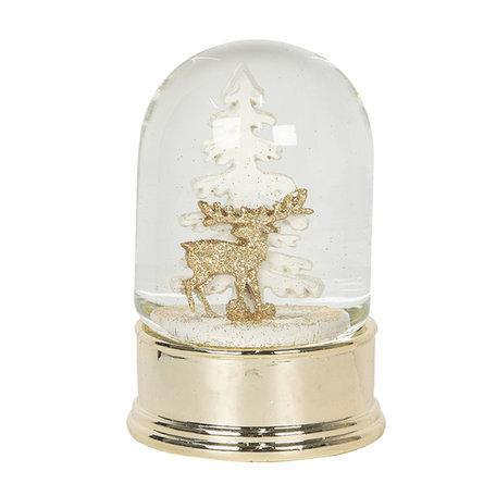 Sneeuwbol ø 8*14 cm Goudkleurig | 64555 | Clayre & Eef