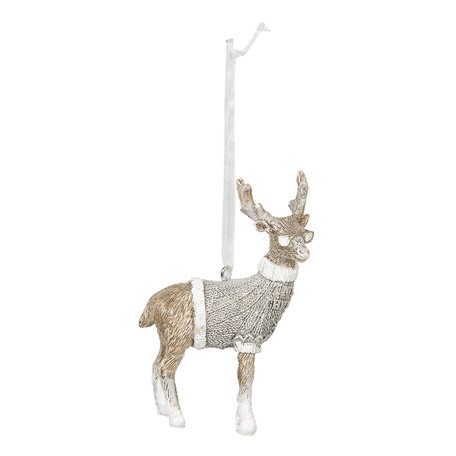 Decoratie hanger 6*3*8 cm Grijs | 6PR2750 | Clayre & Eef