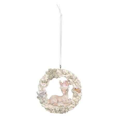Decoratie hanger 7*2*8 cm Meerkleurig | 6PR2762 | Clayre & Eef