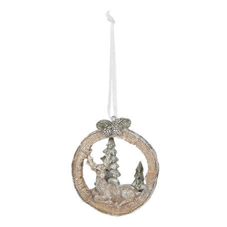 Decoratie hanger 7*2*8 cm Bruin | 6PR2766 | Clayre & Eef