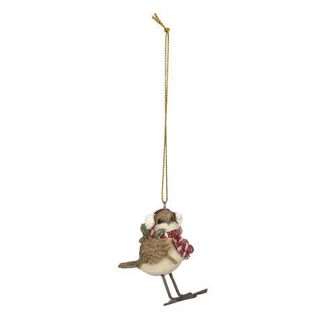 Decoratie hanger vogel 5*3*7 cm Multi | 6PR2797 | Clayre & Eef