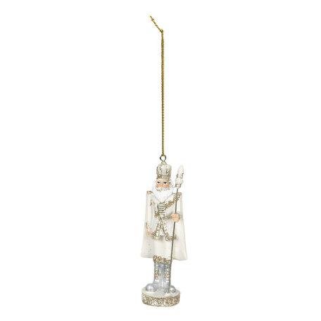 2 STUKS Decoratie hanger 3*3*10 cm Wit | 6PR2801 | Clayre & Eef