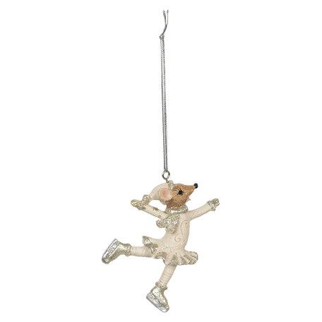 2 STUKS Decoratie hanger 6*2*9 cm Meerkleurig | 6PR2802 | Clayre & Eef
