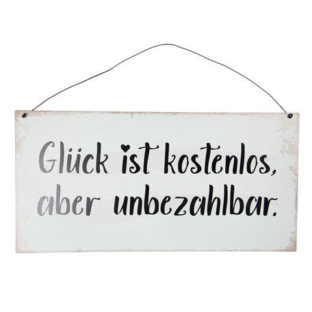 Tekstbord 40*20 cm Zwart | 6Y3826 | Clayre & Eef