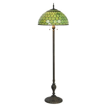 Vloerlamp Tiffany ø 51*165 cm E27/max 3*60W Groen | 5LL-6042 | Clayre & Eef