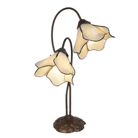 Tafellamp Tiffany 41*23*57 cm E27/max 2*40W Meerkleurig | 5LL-6048 | Clayre & Eef