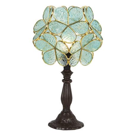 Tafellamp Tiffany 21*21*38 cm E14/max 1*25W Groen | 5LL-6066 | Clayre & Eef