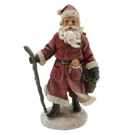 Decoratie kerstman 13*9*21 cm Multi | 6PR2727 | Clayre & Eef