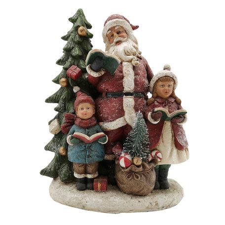 Decoratie kerstman 19*9*24 cm Multi | 6PR2740 | Clayre & Eef