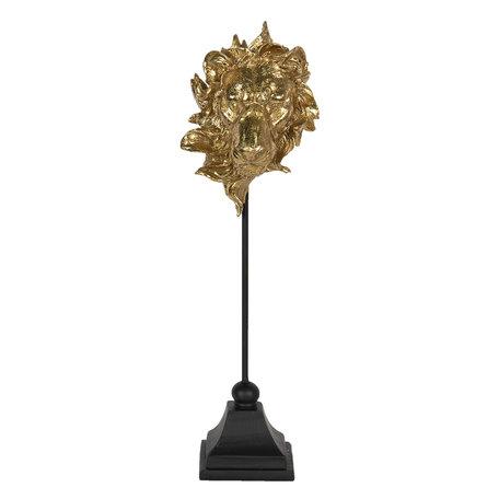 Decoratie leeuw 12*13*40 cm Goudkleurig | 6PR3009 | Clayre & Eef