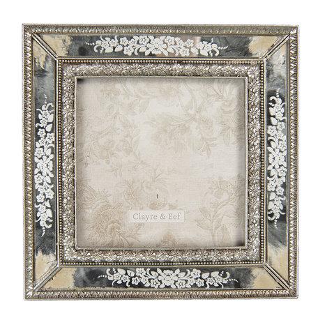 Fotolijst 15*2*15 cm / 10*10 cm Zilverkleurig | 2F0719 | Clayre & Eef