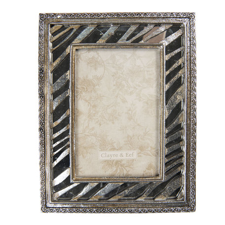 Fotolijst 17*2*22 cm / 10*15 cm Zilverkleurig | 2F0728 | Clayre & Eef