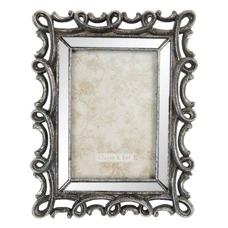 Fotolijst 18*2*24 cm / 10*15 cm Zilverkleurig | 2F0730 | Clayre & Eef