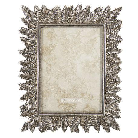Fotolijst 21*1*25 cm / 13*18 cm Zilverkleurig | 2F0759 | Clayre & Eef