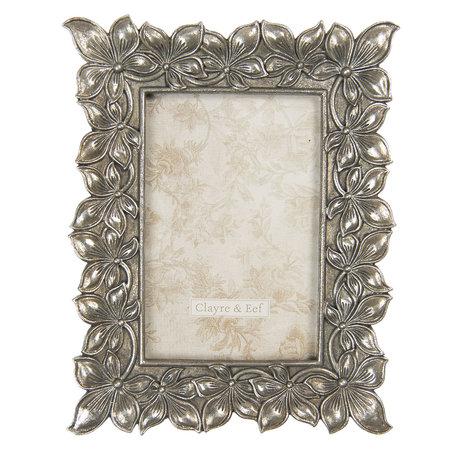 Fotolijst 18*2*22 cm / 10*15 cm Zilverkleurig | 2F0761 | Clayre & Eef