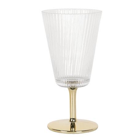 Wijnglas ø 8*16 cm Transparant | 6GL2789 | Clayre & Eef