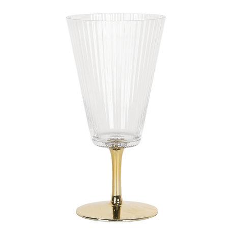 Wijnglas ø 9*18 cm Transparant | 6GL2790 | Clayre & Eef