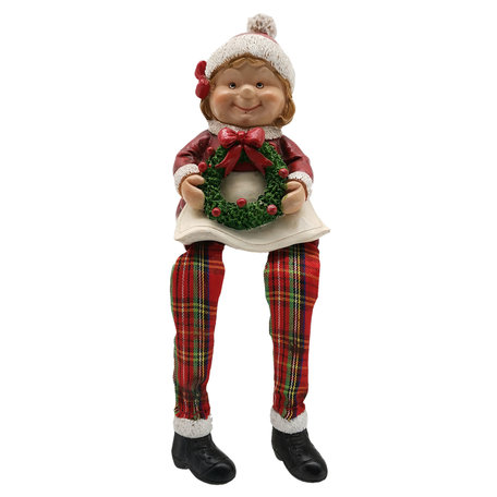 Kerstvrouw 7*6*10 cm Multi | 6PR2728 | Clayre & Eef