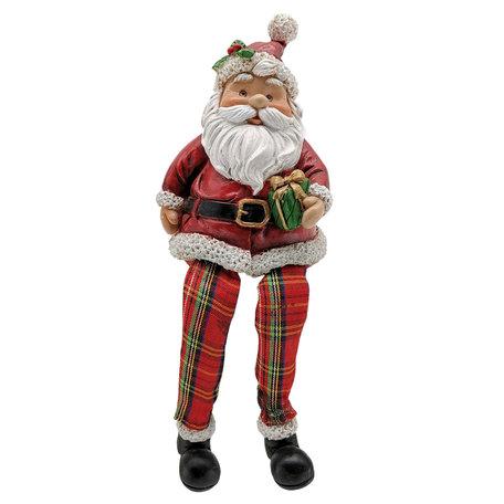 Decoratie kerstman 7*7*10 cm Multi | 6PR2729 | Clayre & Eef