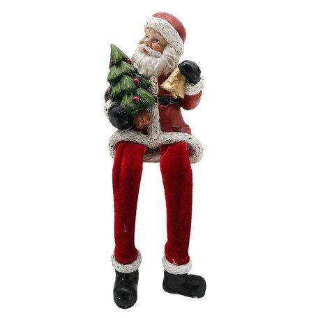 Decoratie kerstman 8*8*10 cm Rood | 6PR2735 | Clayre & Eef