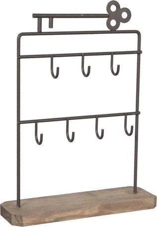 Metalen Sleutel standaard 19 x 6 x 25 cm bruin   6Y1335CH   Clayre & Eef