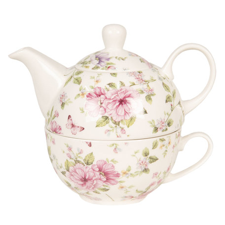 Tea for one set 16*10*14 cm 0.4L / 0.25L Multi | 6CE1073 | Clayre & Eef