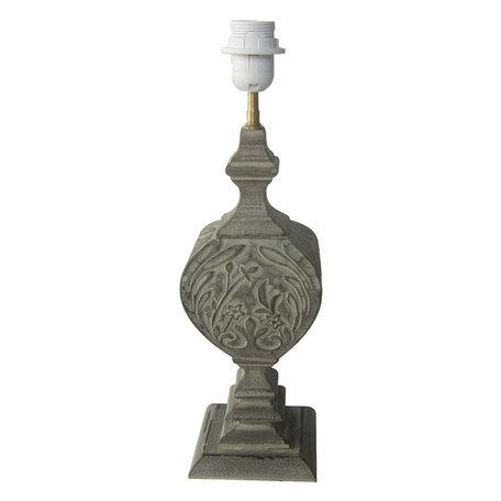 Lampenvoet 13*13*43 cm E27/max 1*60W Grijs | 6LMP668 | Clayre & Eef