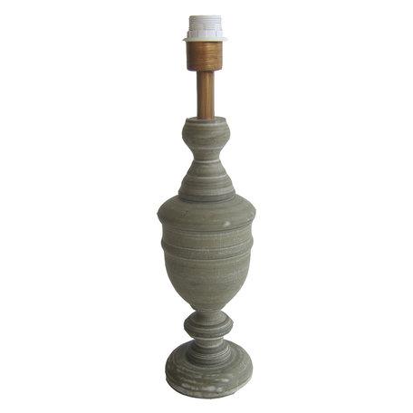 Lampenvoet ø 13*50 cm E27/max 1*60W Grijs | 6LMP670 | Clayre & Eef