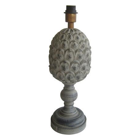 Lampenvoet ø 18*56 cm E27/max 1*60W Grijs | 6LMP674 | Clayre & Eef