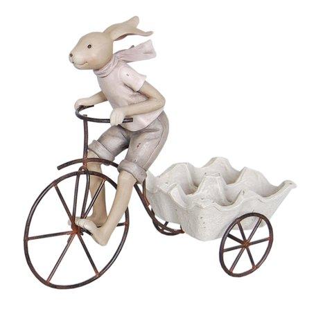 Decoratie konijn 26*11*24 cm Creme | 6PR0312 | Clayre & Eef