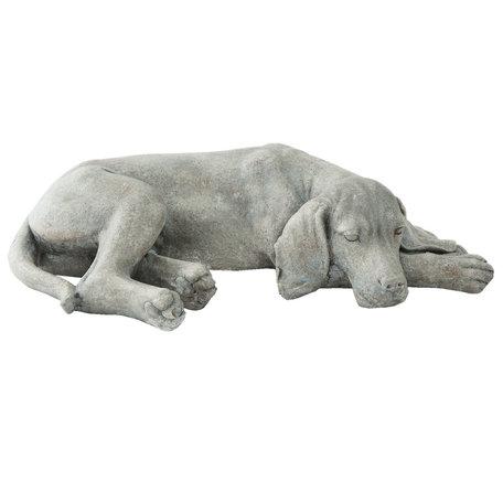 Hond liggend 58*35*15 cm Grijs | 6PR1144 | Clayre & Eef