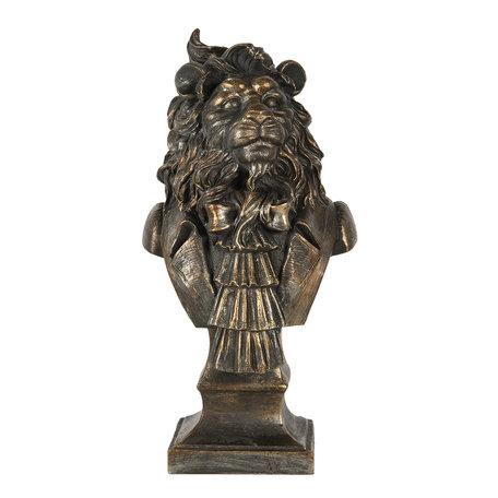 Decoratie leeuw 16*15*33 cm Goudkleurig | 6PR2862 | Clayre & Eef