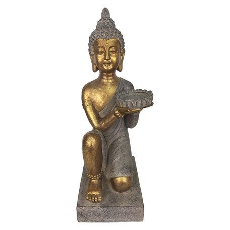 Waxinelichthouder Boeddha 19*17*44 cm Goudkleurig | 6PR2978 | Clayre & Eef