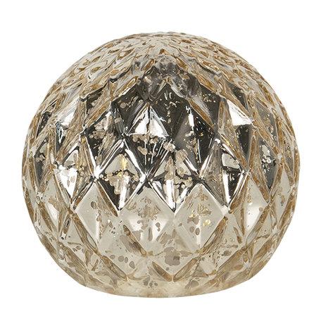 Decoratie met LED ø 8*10 cm Transparant | 6GL2795 | Clayre & Eef