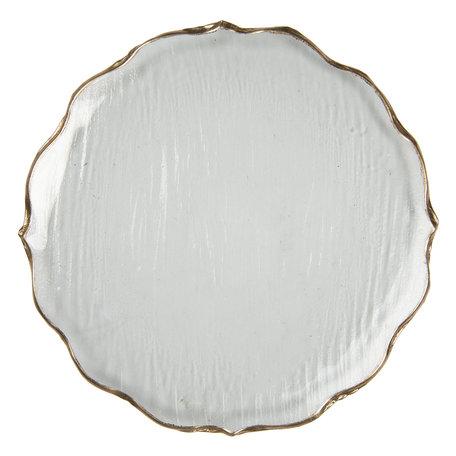 Schaal ø 27*2 cm Transparant | 6GL2803 | Clayre & Eef