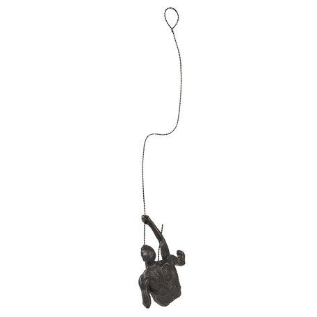 Decoratie hanger 16*19*8 cm Zwart | 6PR2869 | Clayre & Eef