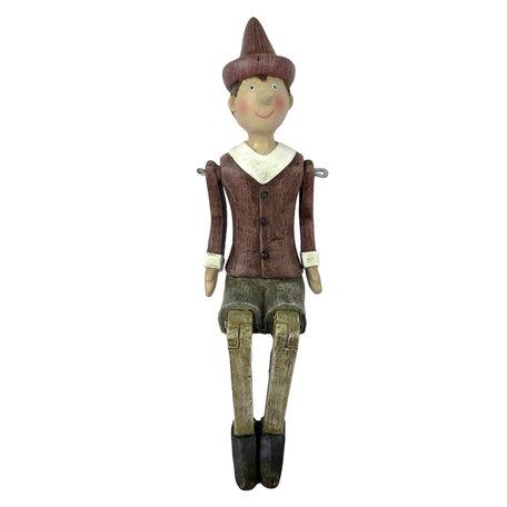 Decoratie figuur Pinokkio 6*10*20 cm Multi | 6PR2974 | Clayre & Eef