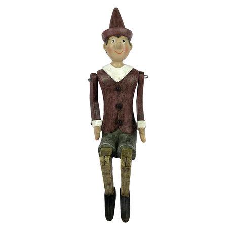 Decoratie figuur Pinokkio 13*8*27 cm Multi | 6PR2976 | Clayre & Eef