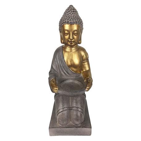 Waxinelichthouder Boeddha 14*17*38 cm Goudkleurig | 6PR2979 | Clayre & Eef