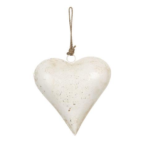 Decoratie hanger hart 21*6*21 cm Wit | 6Y4166 | Clayre & Eef