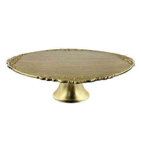 Taartstandaard ø 32*10 cm Goudkleurig | 64598GO | Clayre & Eef
