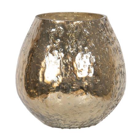 Waxinelichthouder ø 10*7 cm Goudkleurig | 6GL2603S | Clayre & Eef