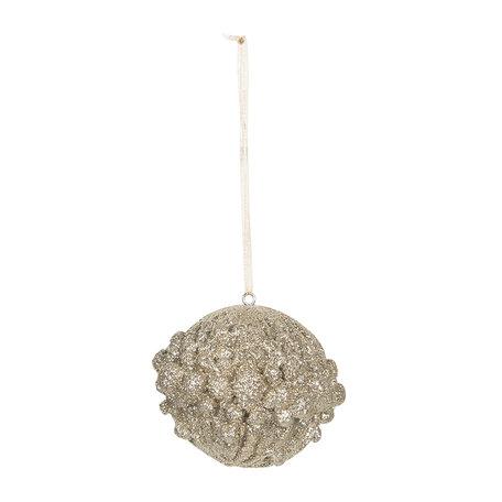 Kerstbal ø 7*6 cm Goudkleurig | 6PR3024 | Clayre & Eef